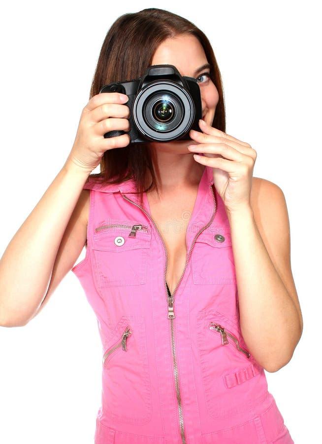 Machen eines Fotos lizenzfreie stockfotografie