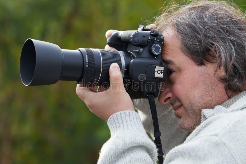Machen eines Fotos lizenzfreies stockbild
