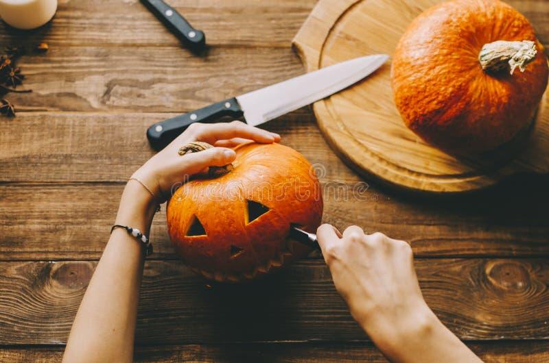 Machen Sie ein Halloween stockbild