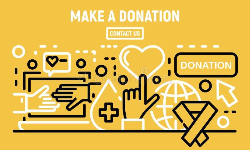 Machen Sie eine Spendenfahne, Entwurfsart lizenzfreie abbildung