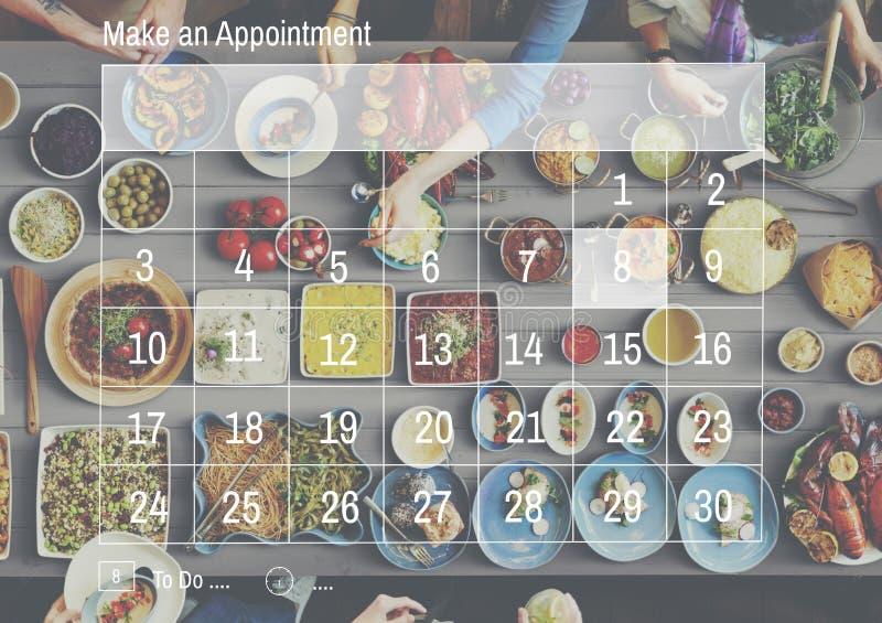 Machen Sie eine Terminkalender-Zeitplan-Organisationsplanung Conc lizenzfreies stockfoto