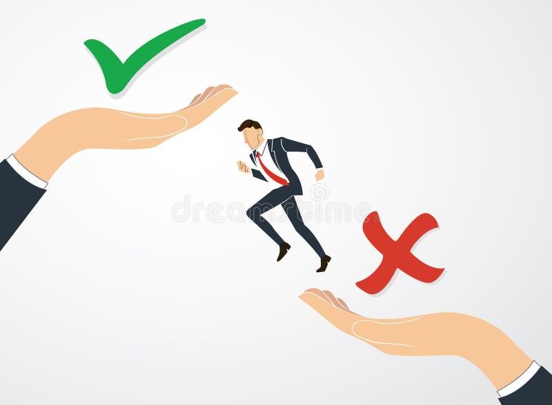 Machen Sie Entscheidungs-, wahren oder falschenvektor stock abbildung