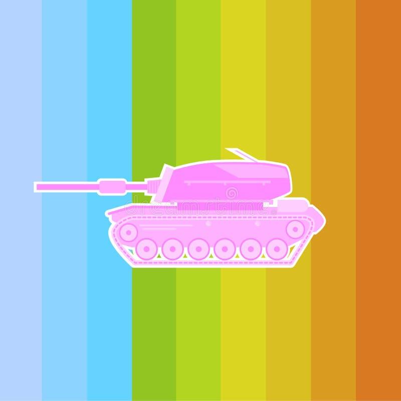 Machen Sie Friedensnicht kriegs- rosa Behälter lizenzfreie abbildung