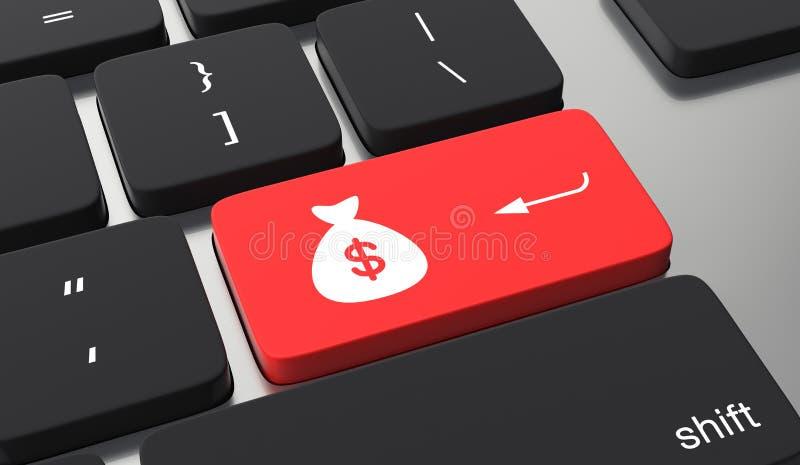 Machen Sie Geld on-line-Konzept vektor abbildung