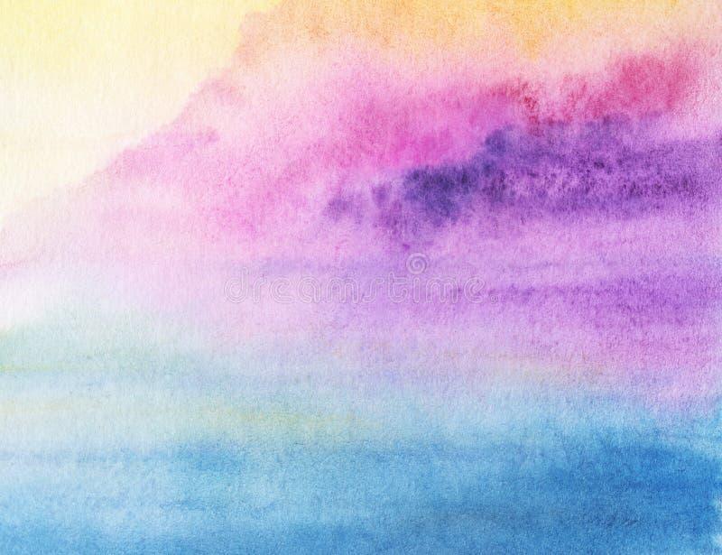 Machen Sie gemalte Aquarellsteigung nass vektor abbildung