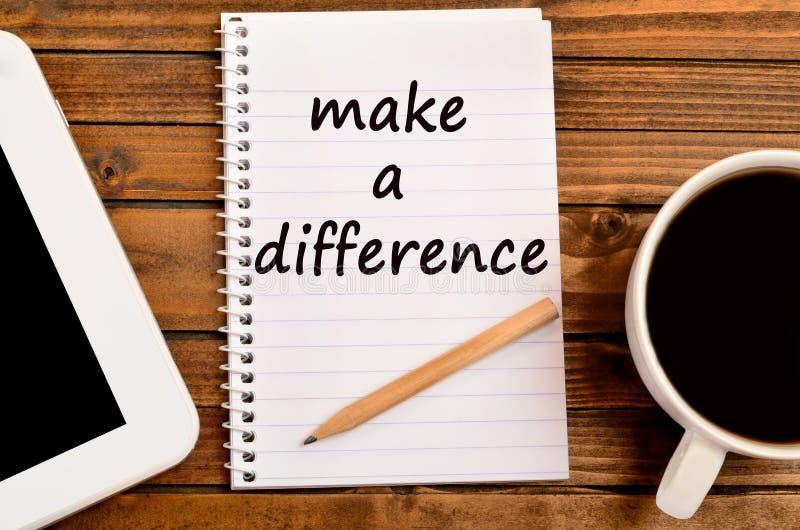 Machen Sie Wörter eines Unterschiedes stockbild