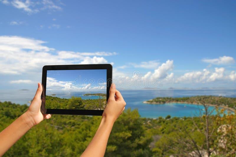 Machen von Fotos lizenzfreies stockbild