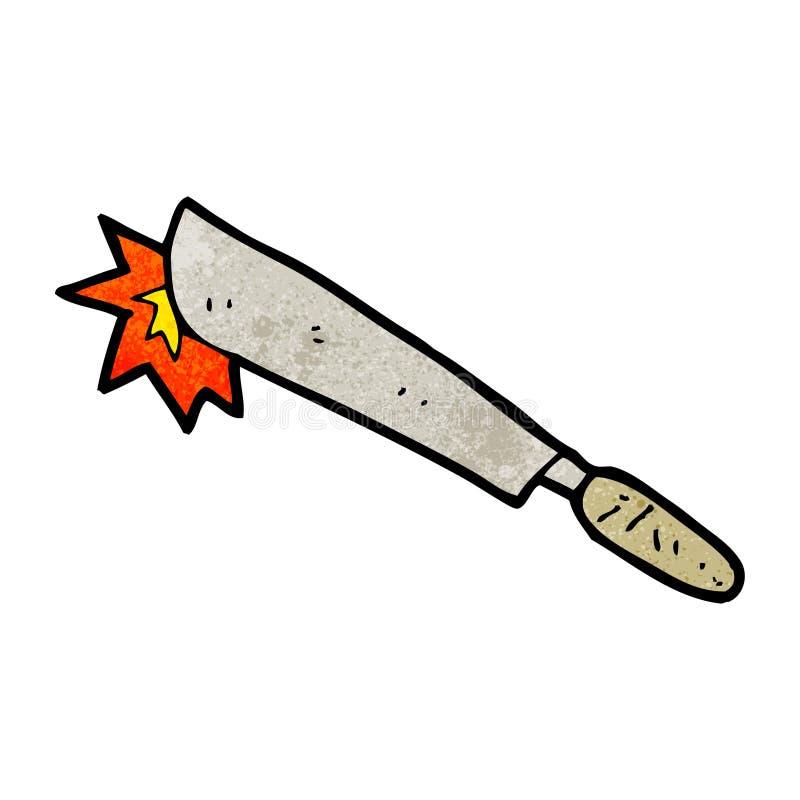 machete de la historieta ilustración del vector