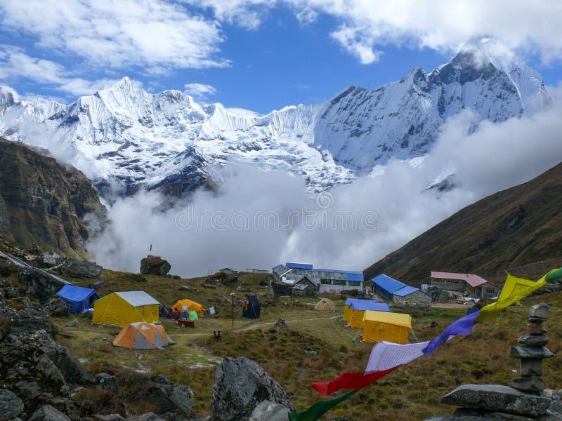 Machhapuchhre from Annapurna Base Camp stock image