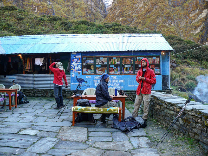 Machhapuchhre Base Camp stock photography