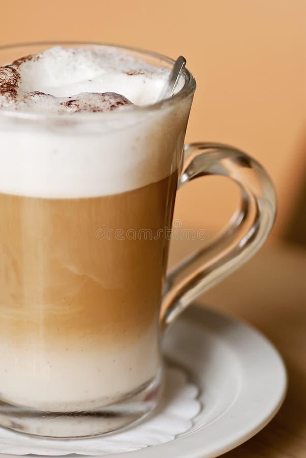 Machiatto del latte del caffè fotografia stock