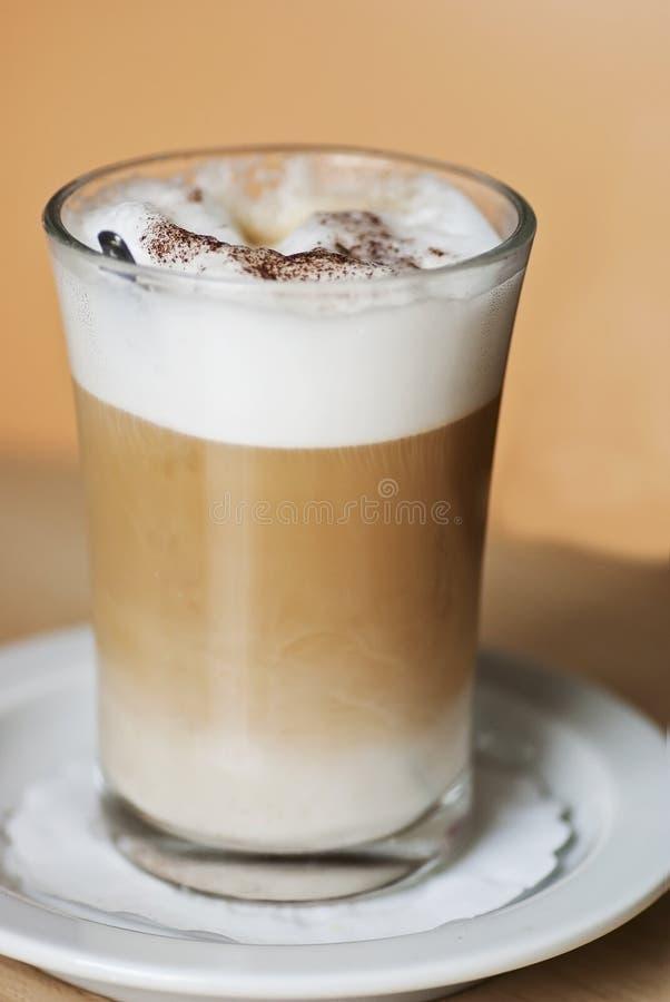 Machiatto del latte del caffè fotografia stock libera da diritti