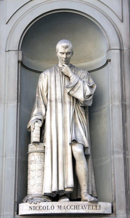 machiavelli skulptur royaltyfri bild
