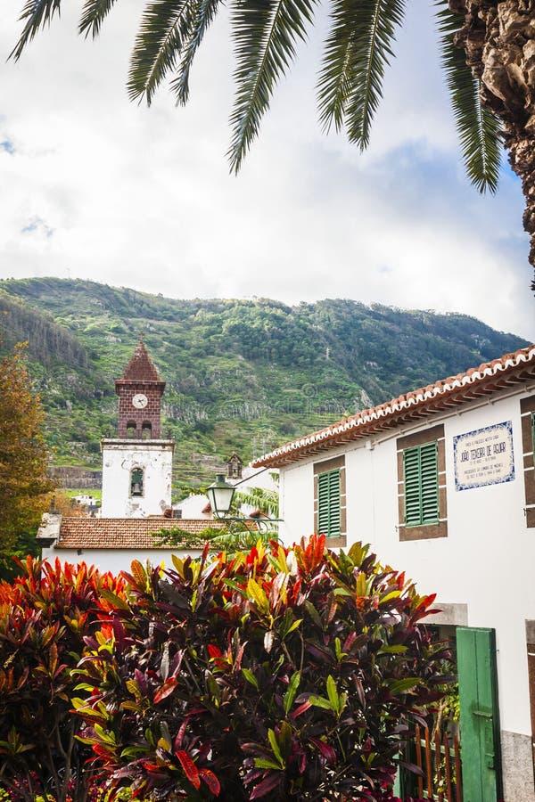 Machico cerca del aeropuerto en Madeira, Portugal fotos de archivo libres de regalías
