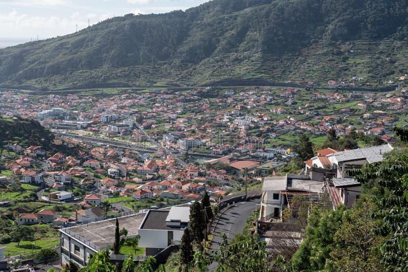 Machico miasto w maderze obraz royalty free
