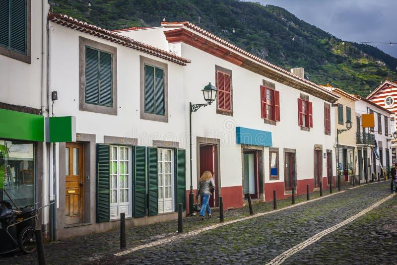 Machico nahe Flughafen in Madeira, Portugal stockbild
