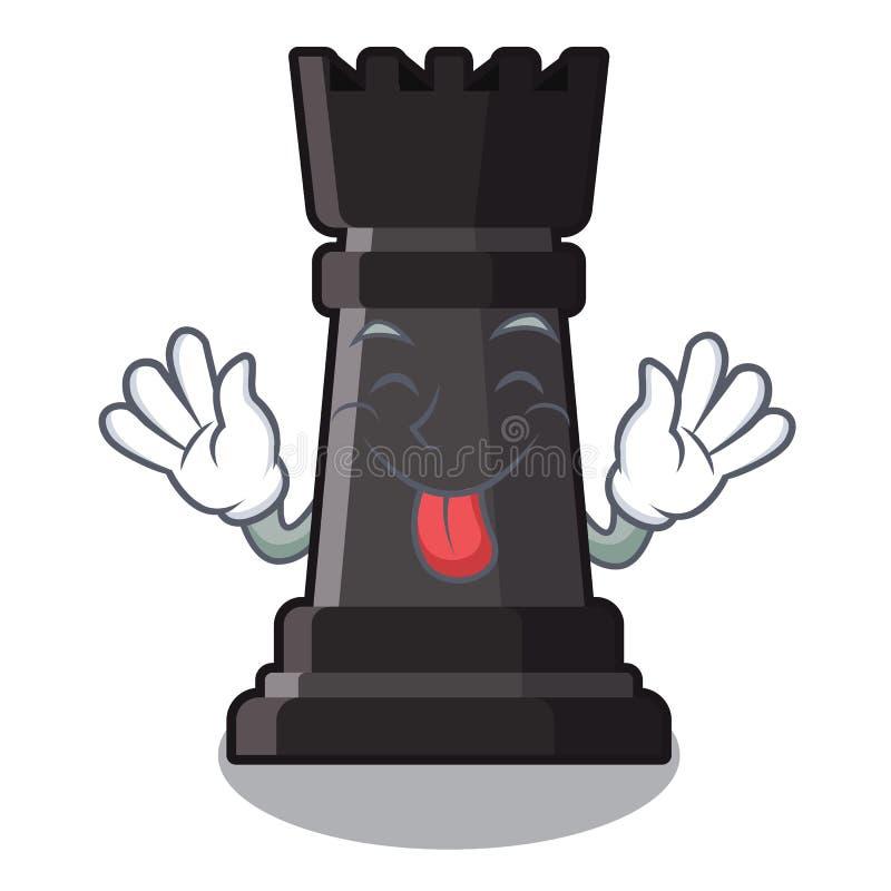Machihiembre hacia fuera el ajedrez del grajo en una silla de la historieta ilustración del vector