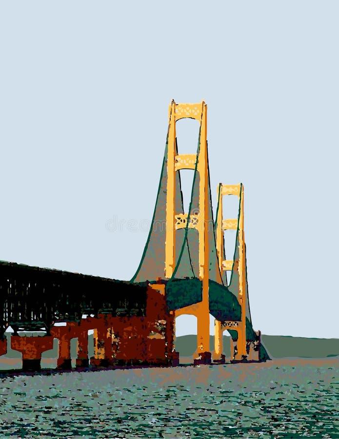 Machinac Bridge_Vector fotos de archivo