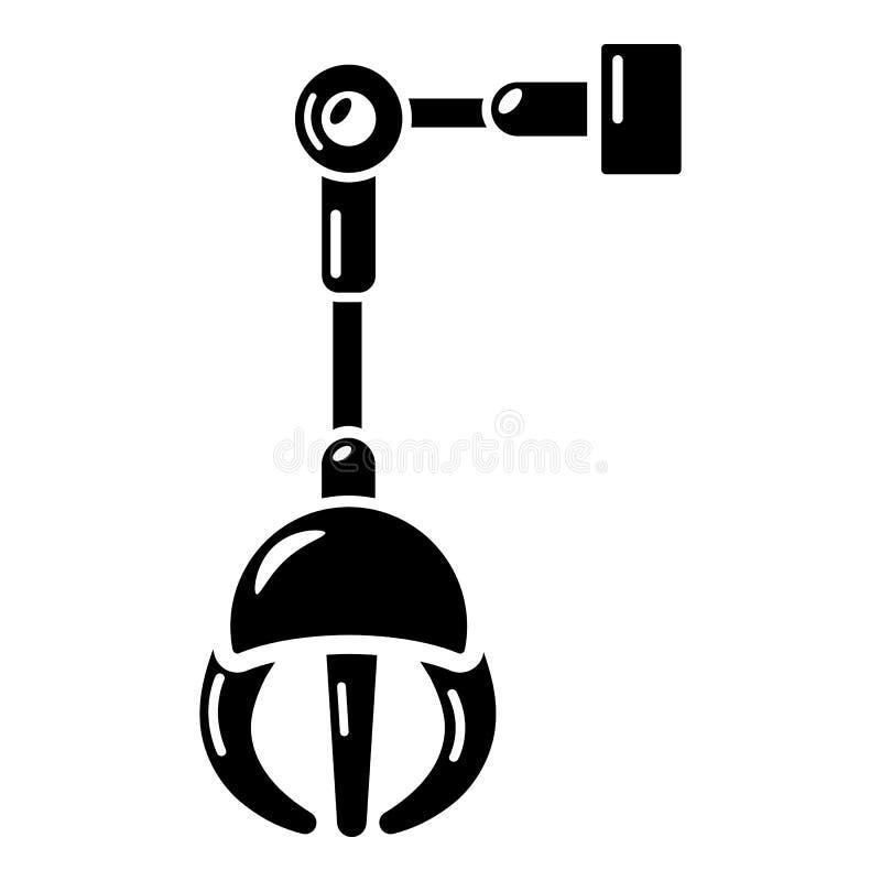 Machinalna chciwiec ikona, prosty styl ilustracja wektor
