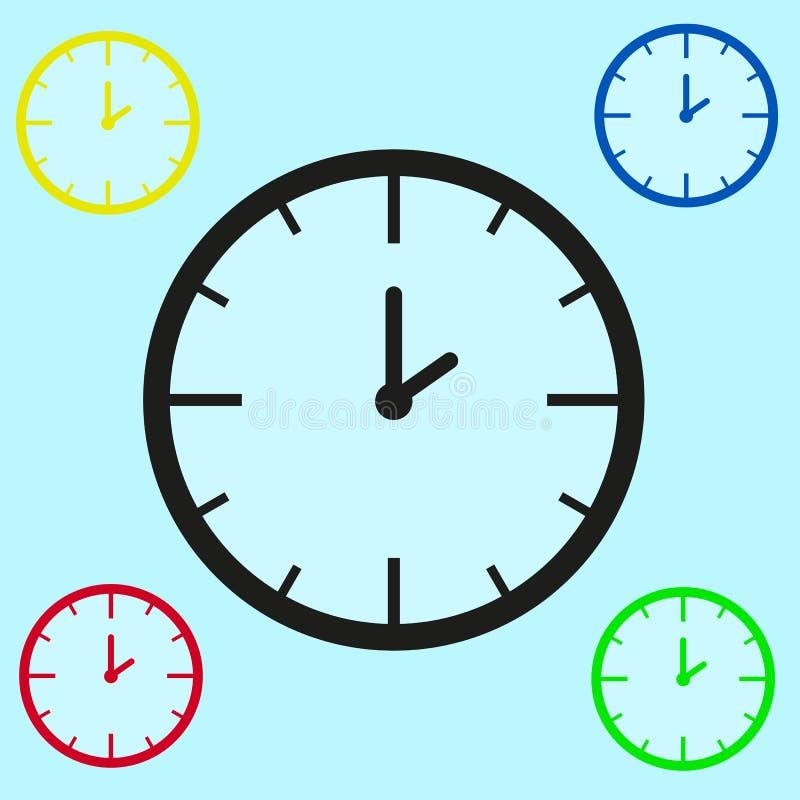 Machinalni zegarki różni kolory na bławym tle royalty ilustracja