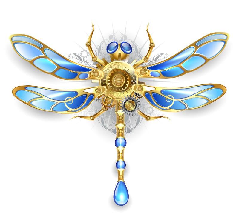 Machinalny dragonfly na białym tle ilustracji