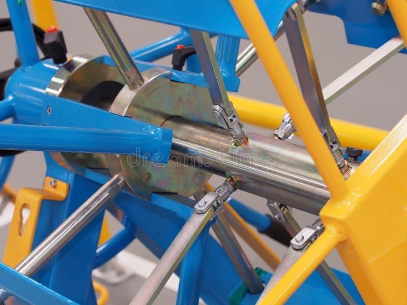 Machinalny dyszel i połączenia contraption zdjęcie stock