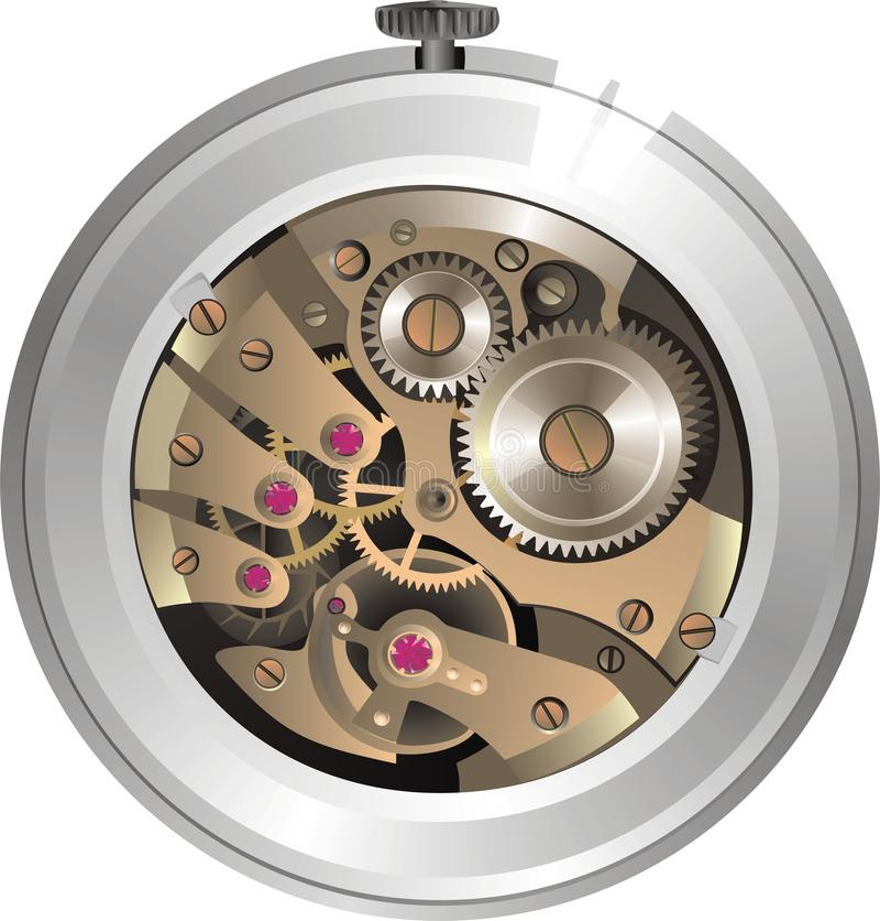 machinalny zegarek ilustracji