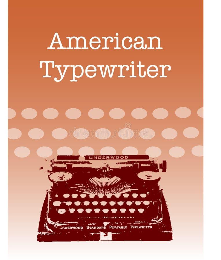 Machine à écrire américaine illustration libre de droits