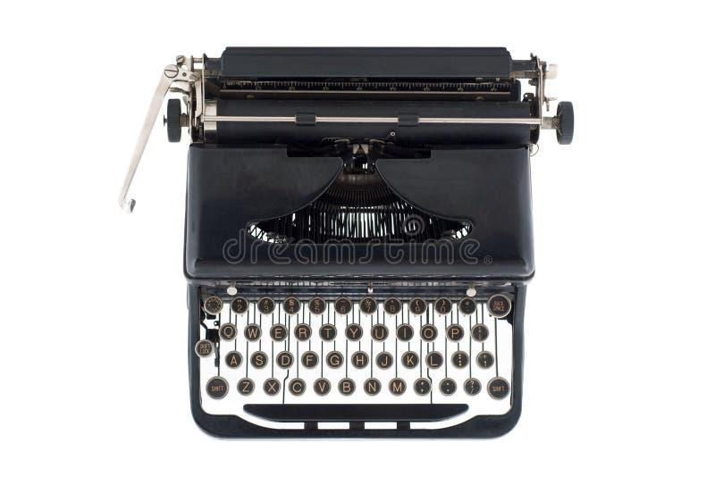 Machine à écrire antique noire de ci-avant images stock