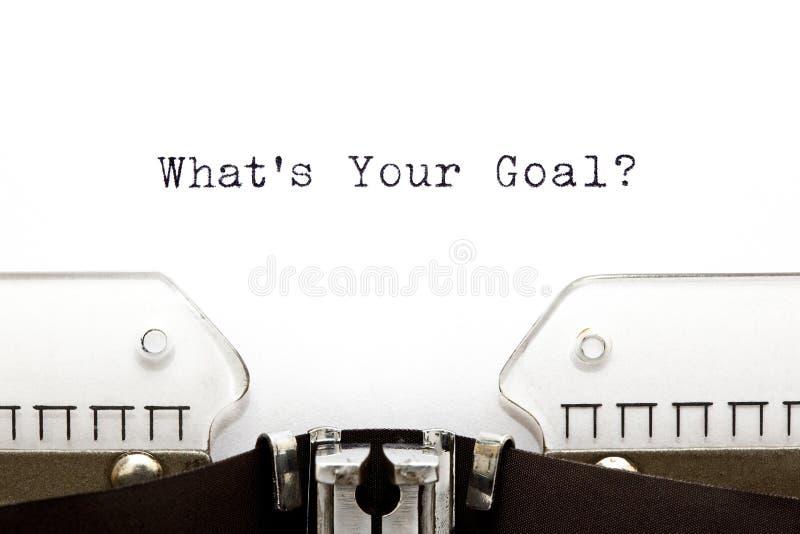 Machine à écrire ce qui est votre but photo libre de droits