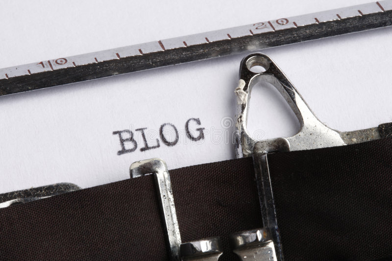 machine à écrire de blog écrite photo libre de droits