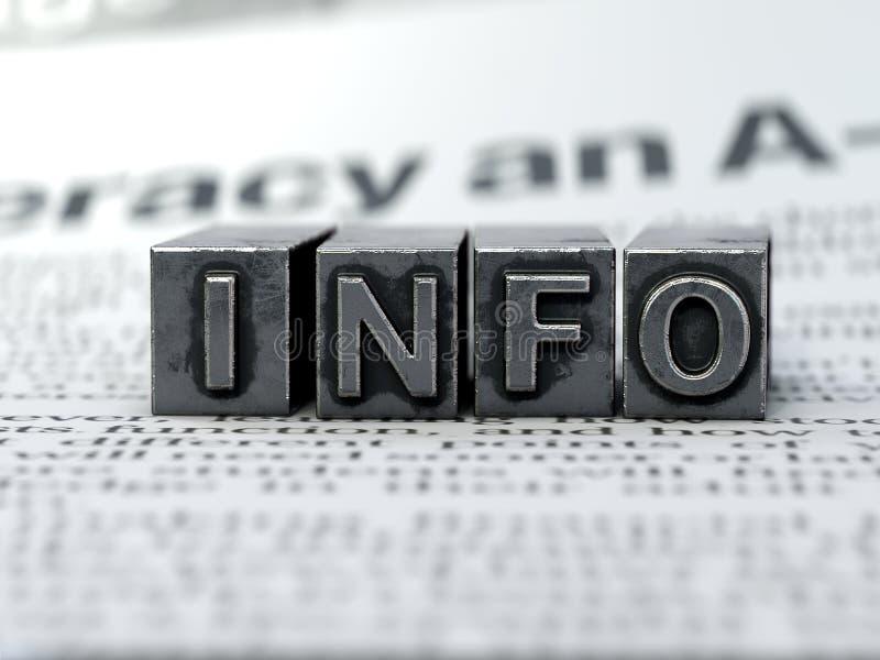 Machine à écrire de concept de l'information de symbole de l'information photo stock