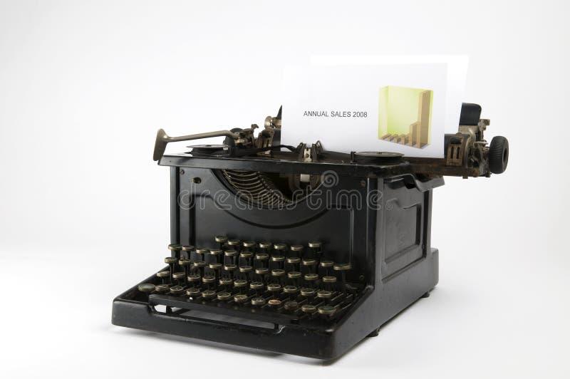 Machine à écrire de ventes photographie stock libre de droits