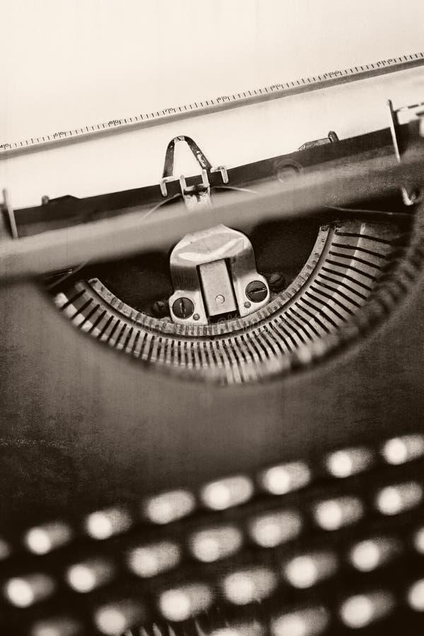 Machine à écrire grunge de vintage image stock
