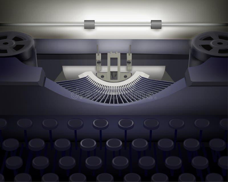 Machine à écrire.  Illustration De Vecteur. Photo stock