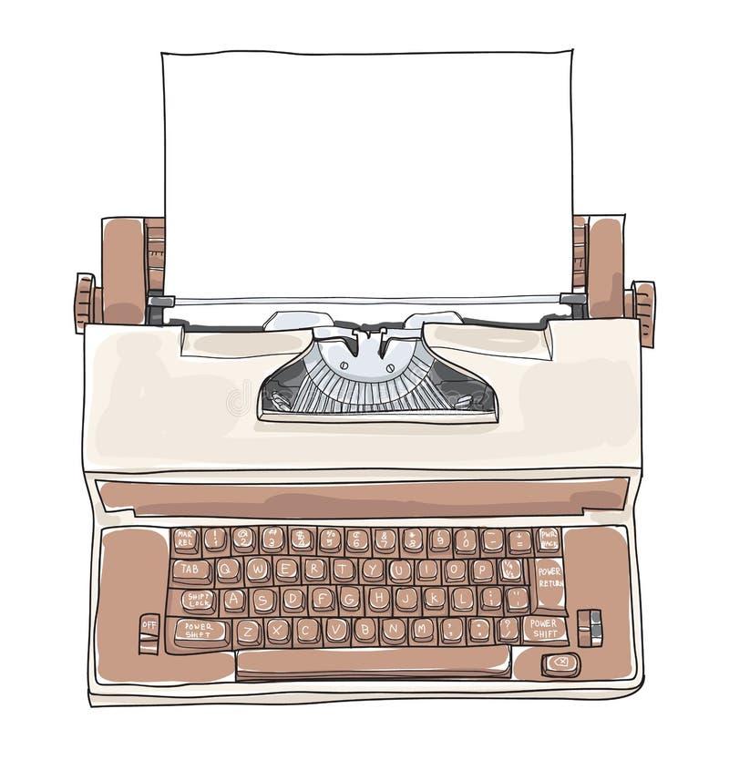 Machine à écrire royale d'académie de machine à écrire électrique de vintage de Brown illustration stock