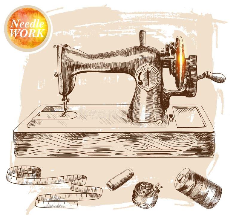 Machine à coudre illustration libre de droits