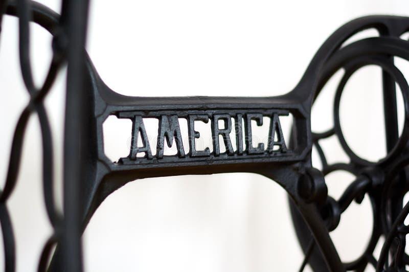 Machine à coudre de l'Amérique image stock