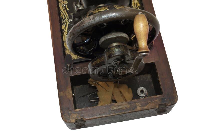Machine à coudre plan rapproché arrière de mécanisme de rotation Avec le chemin de coupure images stock