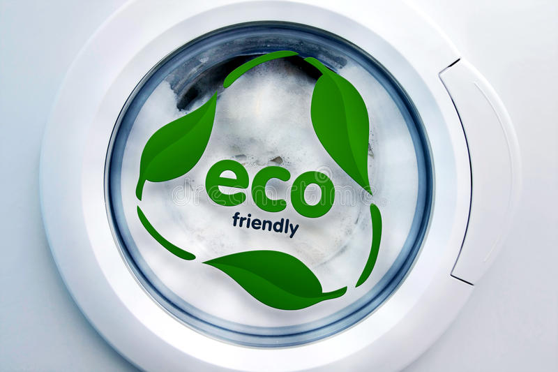 Machine à laver d'Eco photo libre de droits