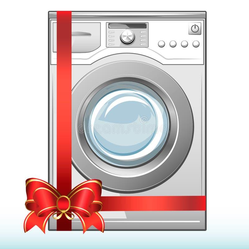 Machine à laver de cadeau. Vente. illustration de vecteur