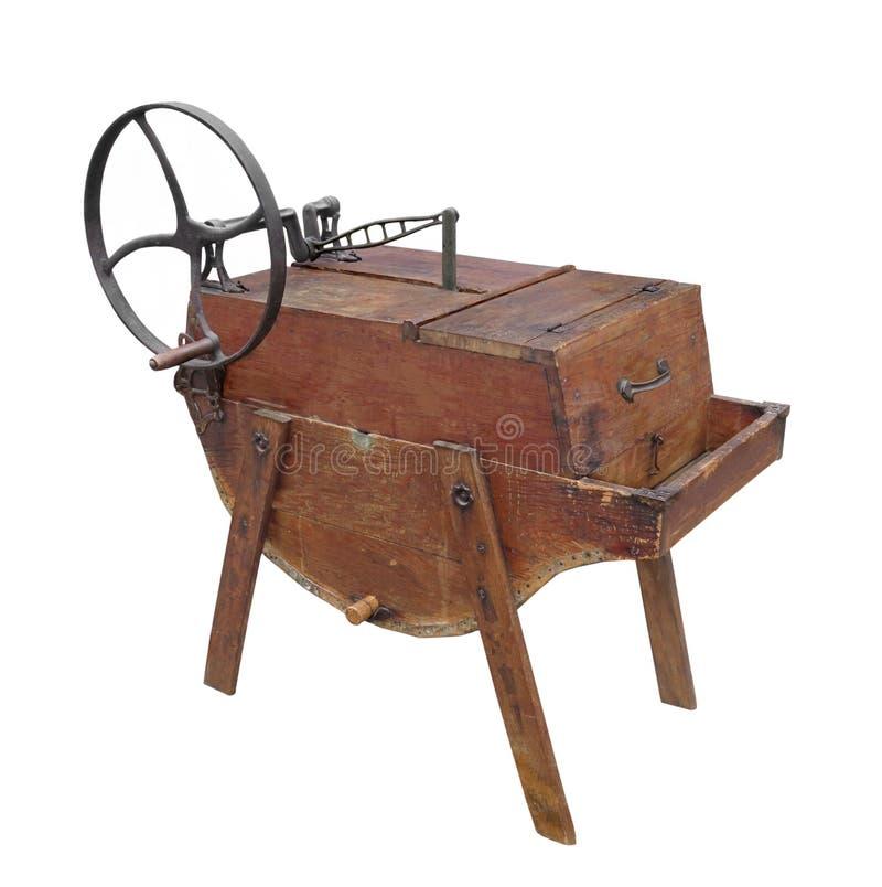 Machine à laver de vintage d'isolement photographie stock libre de droits
