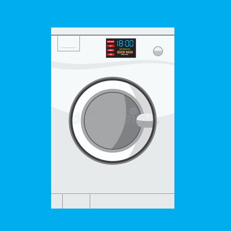 Machine à laver en détail avec la conception solide et plate de couleur illustration libre de droits