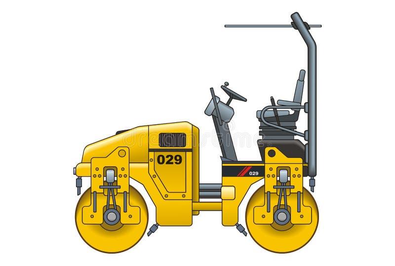 Machine à paver d'asphalte illustration stock