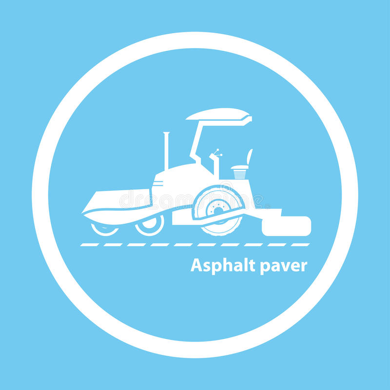 Machine à paver d'asphalte de roue illustration libre de droits