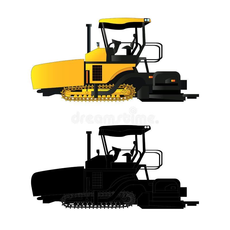 Machine à paver d'asphalte, illustration de vecteur illustration libre de droits