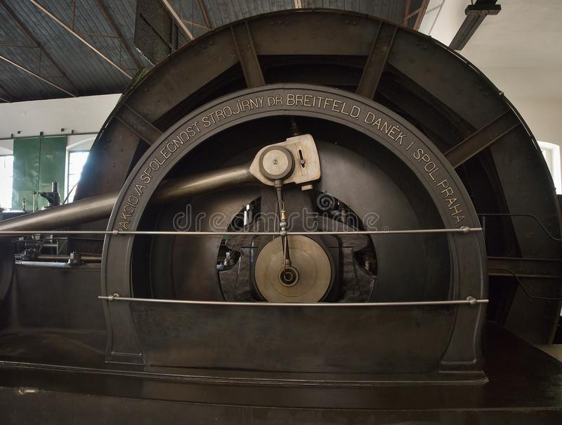 Machine à vapeur d'exploitation de vintage photo stock