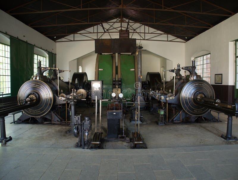 Machine à vapeur d'exploitation de vintage photos libres de droits