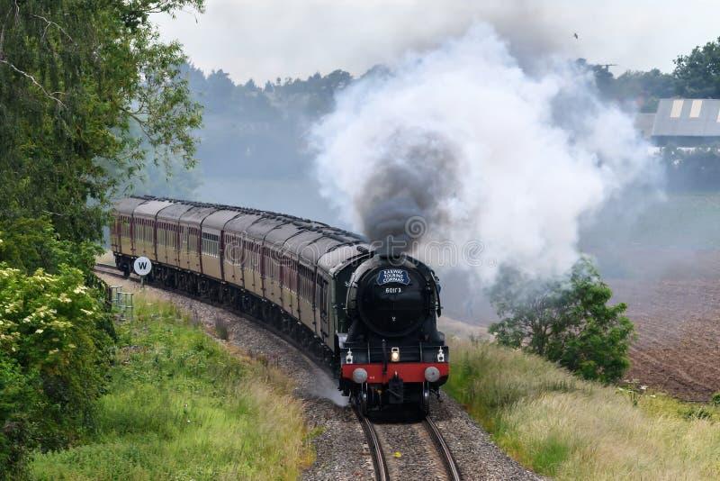 Machine à vapeur volante de Scotsman image libre de droits