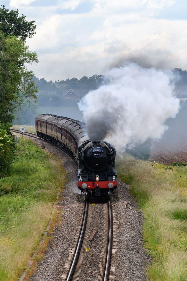 Machine à vapeur volante de Scotsman image stock